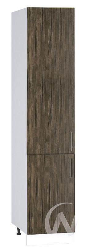 """Кухня """"Норден"""": Шкаф пенал 400, ШП 400 (старое дерево/корпус белый)"""