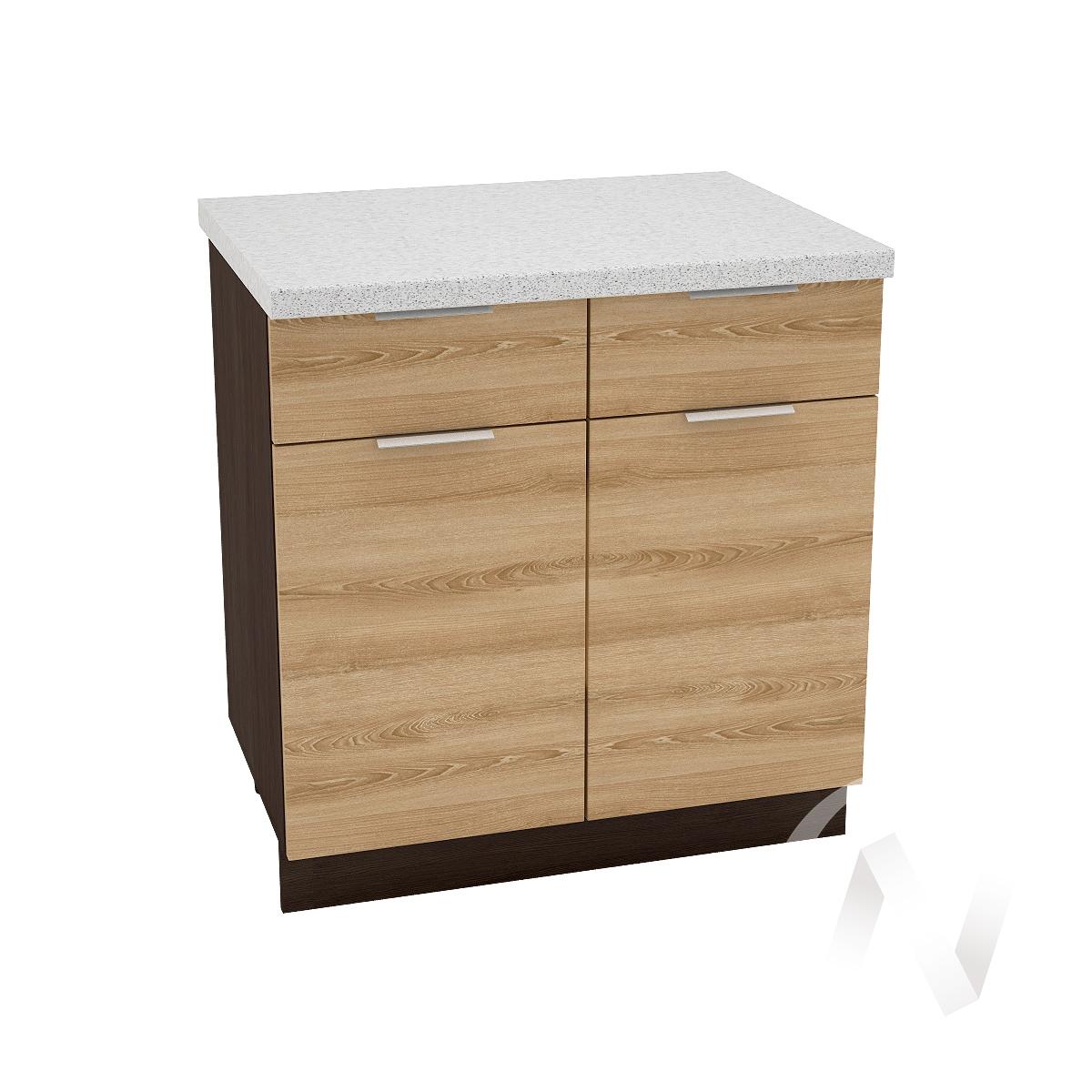 """Кухня """"Терра"""": Шкаф нижний с ящиками 800, ШН1Я 800 (ель карпатская/корпус венге)"""