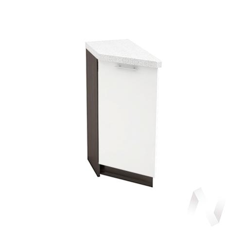 """Кухня """"Валерия-М"""": Шкаф нижний торцевой 300, ШНТ 300 (белый глянец/корпус венге)"""