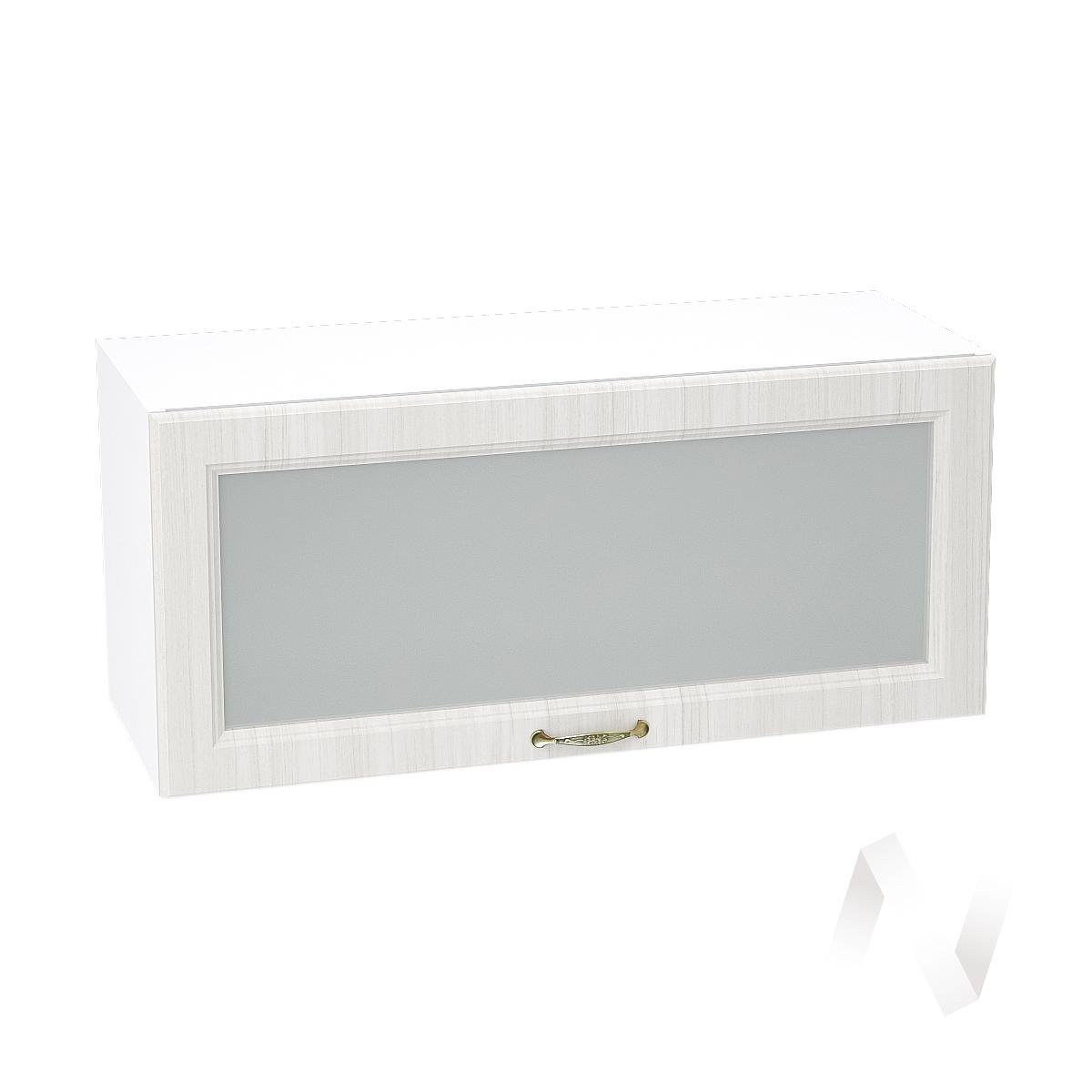 """Кухня """"Виктория"""": Шкаф верхний горизонтальный со стеклом 800, ШВГС 800 (корпус белый)"""