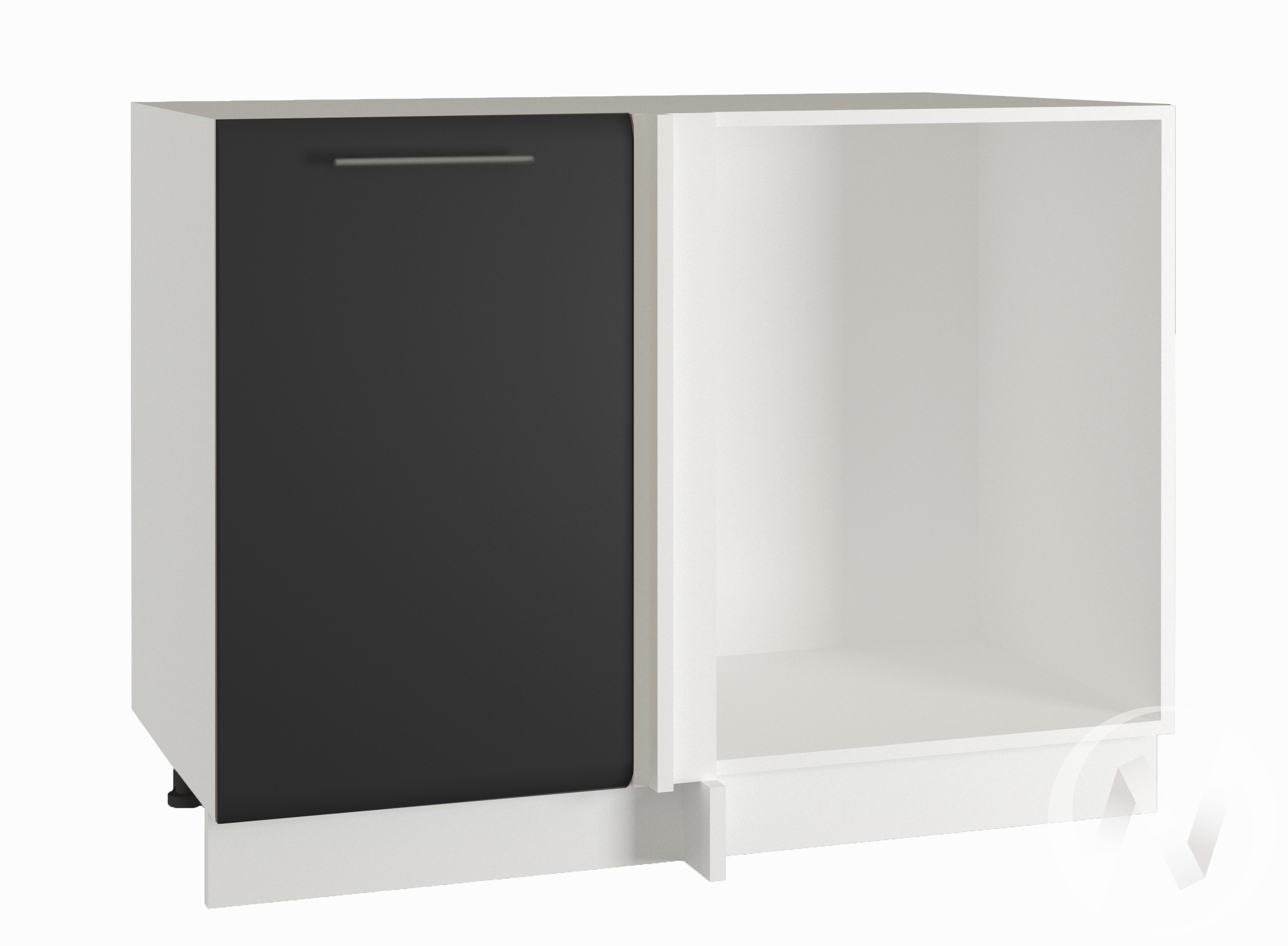 """Кухня """"Люкс"""": Шкаф нижний угловой 990, ШНУ 990 (Шелк венге/корпус белый)"""