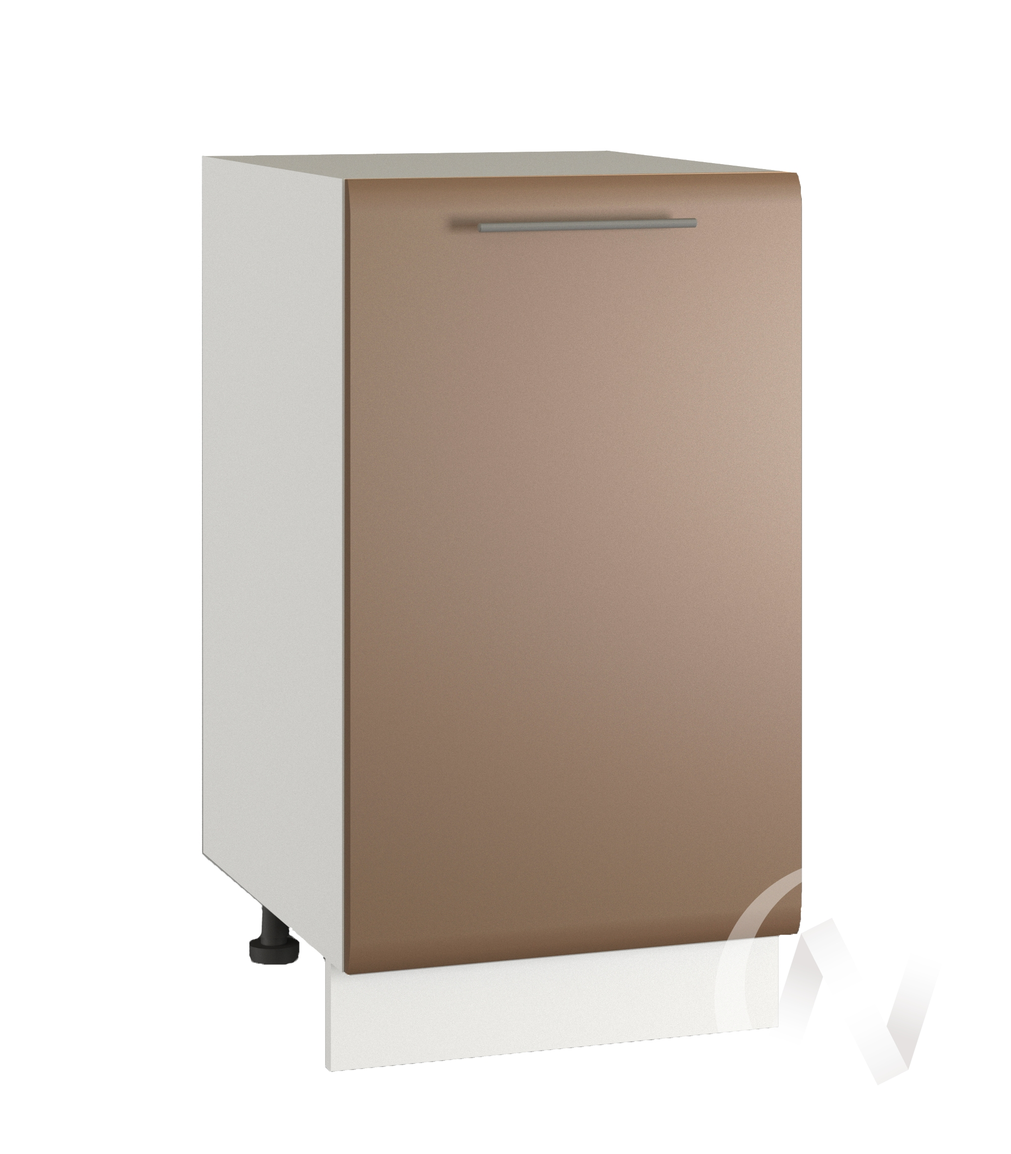 "Кухня ""Люкс"": Шкаф нижний 400, ШН 400 (Шоколад матовый/корпус белый)"