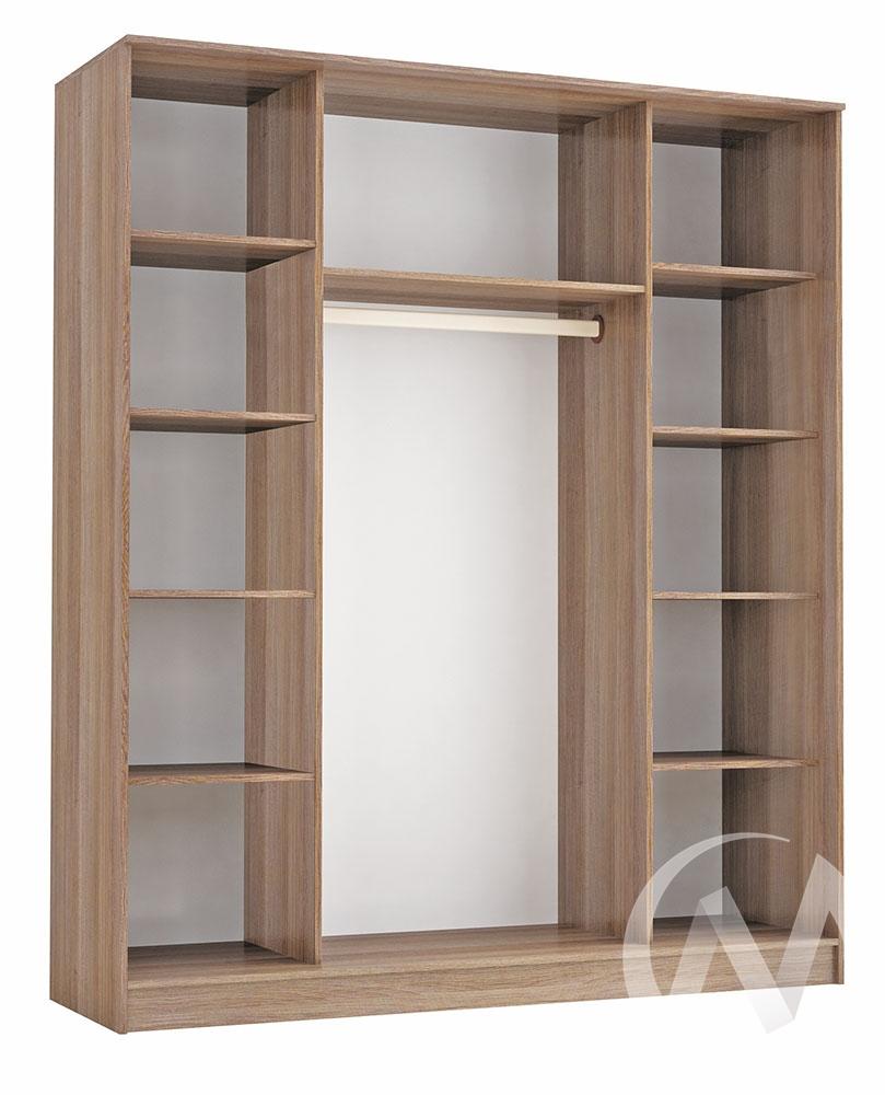 """Шкаф-купе """"Комфорт 3"""" с тремя зеркалами 1,85 (ясень шимо)  в Томске — интернет магазин МИРА-мебель"""