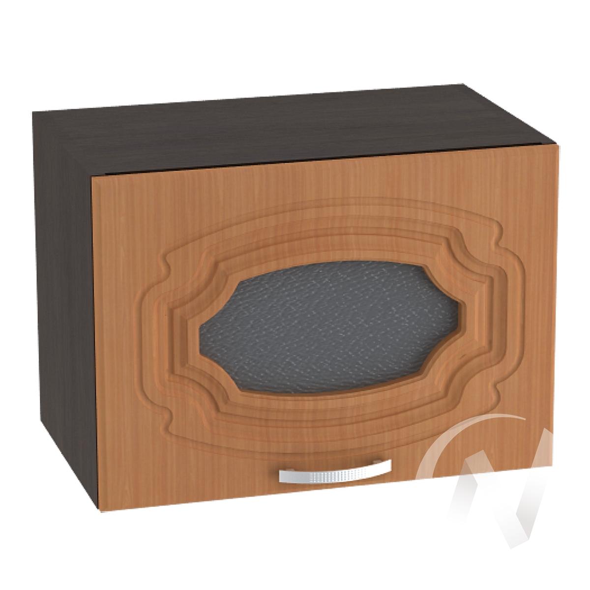 """Кухня """"Настя"""": Шкаф верхний горизонтальный со стеклом 500, ШВГС 500 (Орех миланский/корпус венге)"""