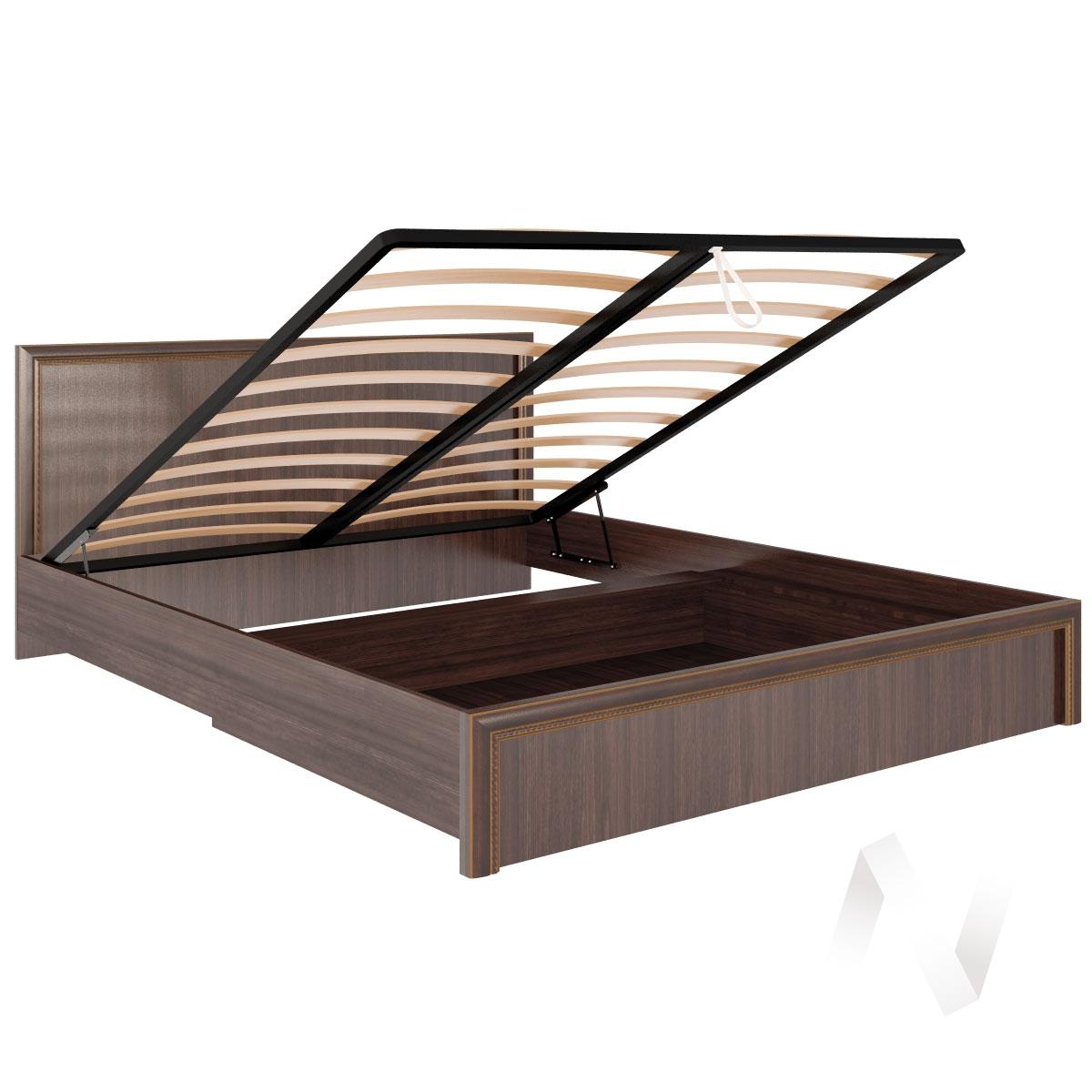 Кровать стандарт с подъемным механизмом М08 Спальня Беатрис (орех гепланкт)