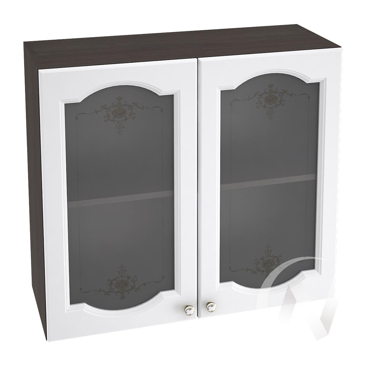 """Кухня """"Шарлиз"""": Шкаф верхний со стеклом 800, ШВС 800 (корпус венге)"""