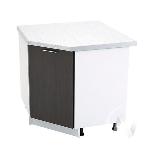 """Кухня """"Валерия-М"""": Шкаф нижний угловой 890, ШНУ 890 (венге/корпус белый)"""