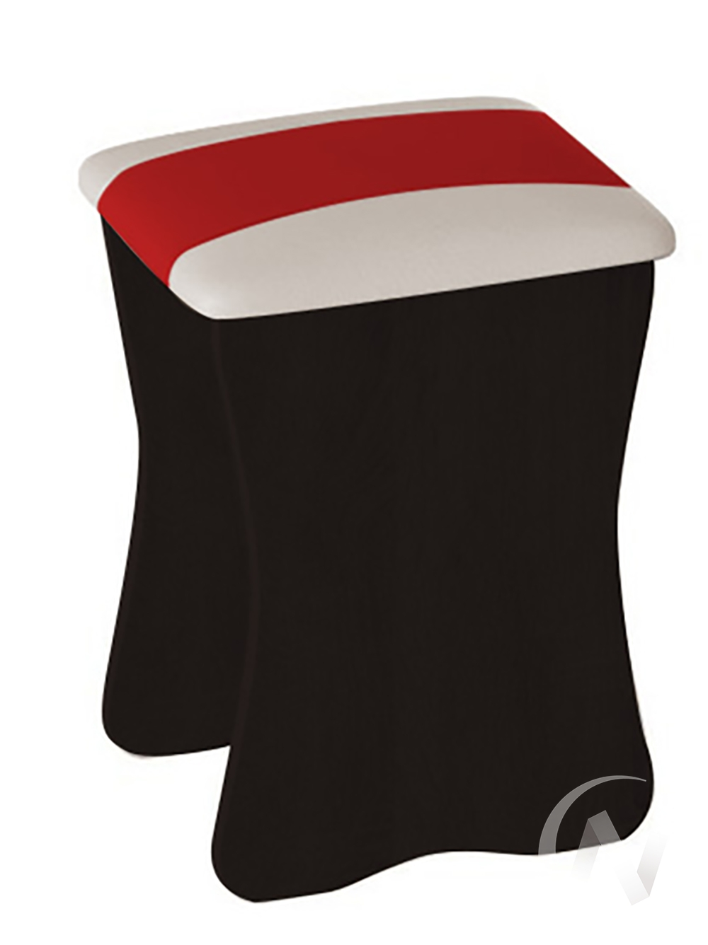 Табурет (венге белый+красный) комплект 2 шт.