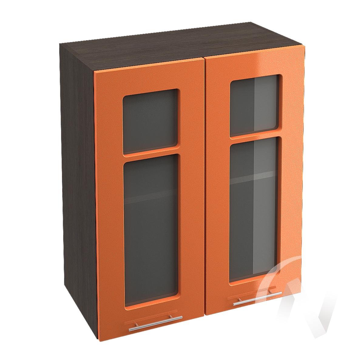 """Купить кухня """"техно"""": шкаф верхний со стеклом 600, швс 600 (корпус венге) в Новосибирске в интернет-магазине Мебель плюс Техника"""