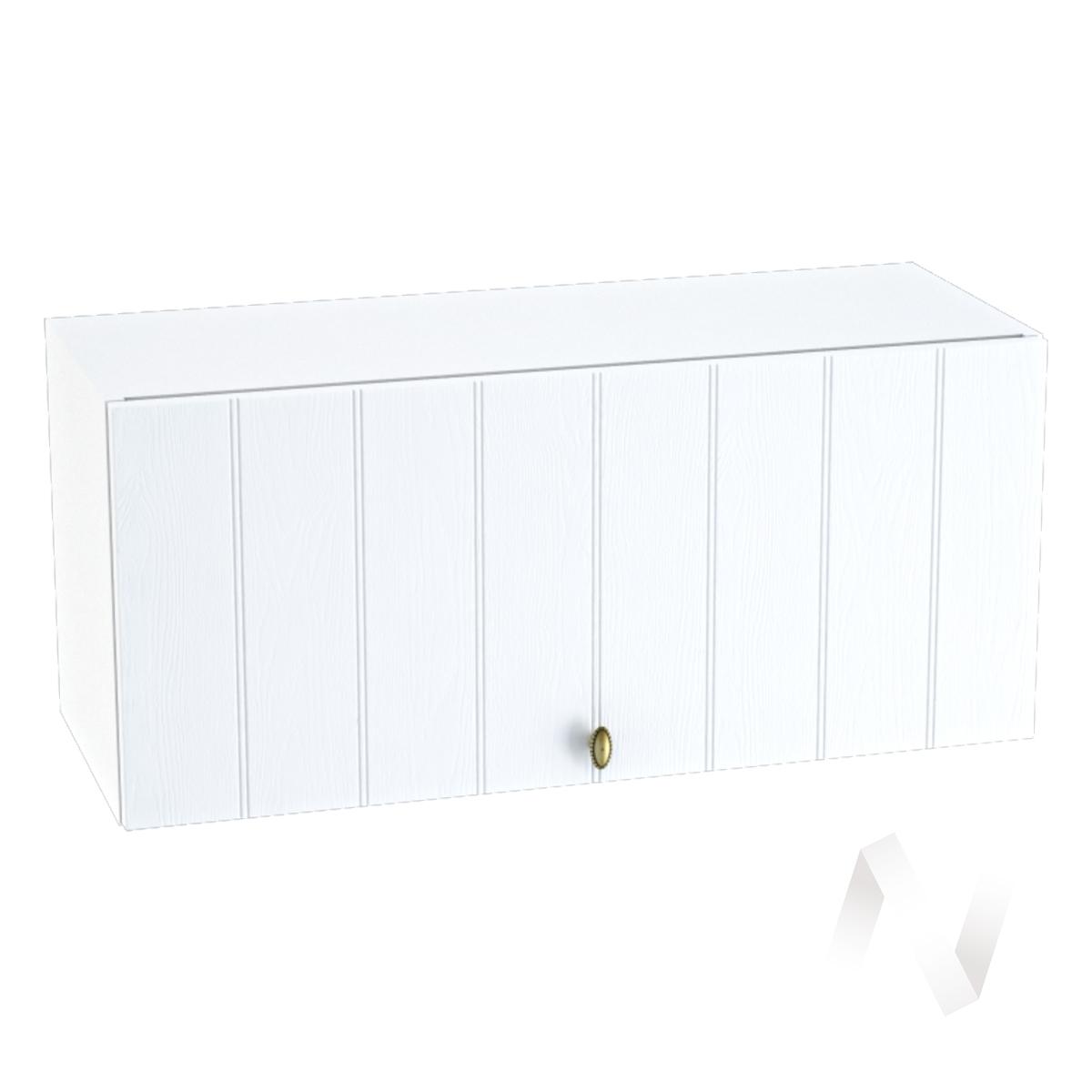 """Кухня """"Прованс"""": Шкаф верхний горизонтальный 800, ШВГ 800 (белое дерево/корпус белый)"""