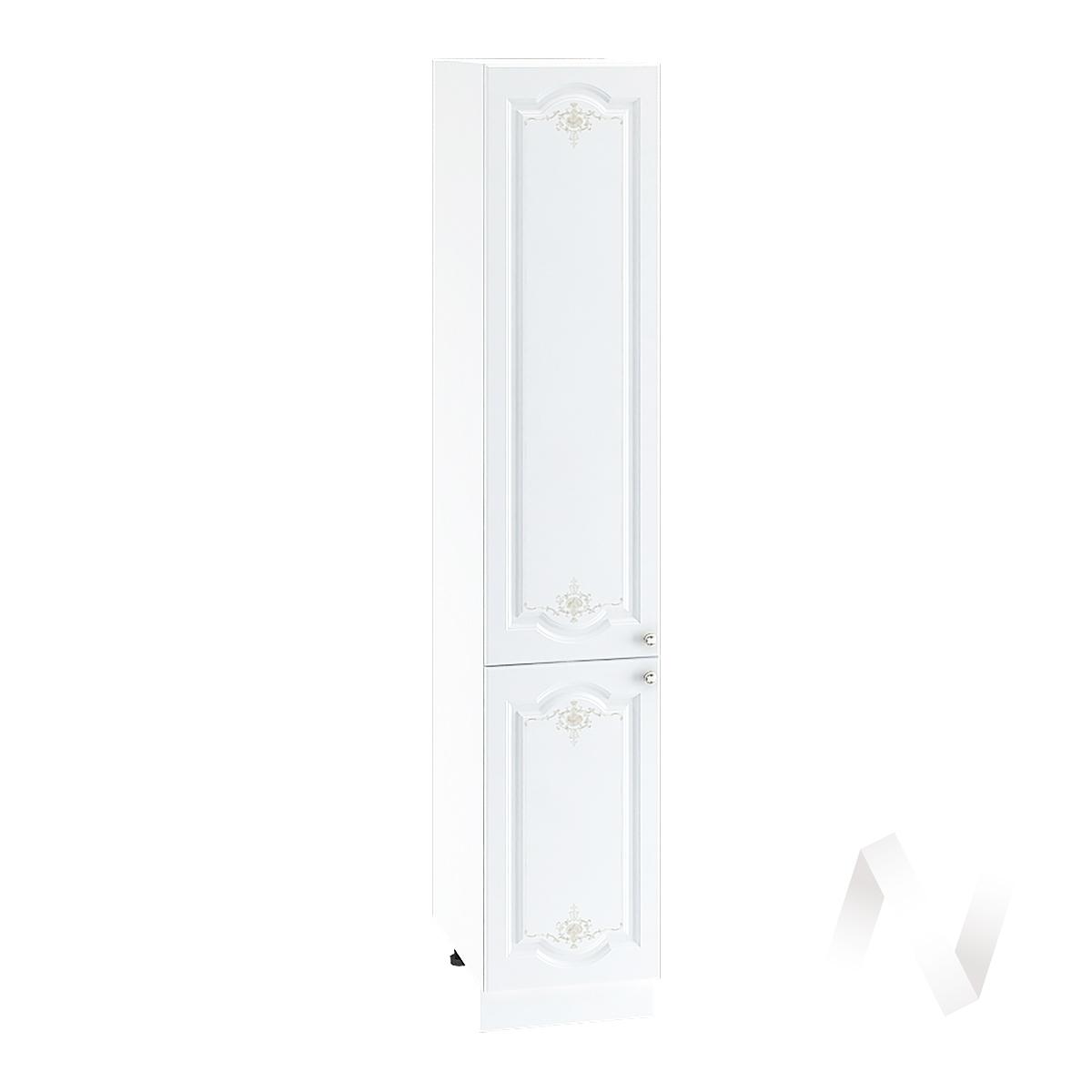 """Кухня """"Шарлиз"""": Шкаф пенал 400, ШП 400 (корпус белый)"""