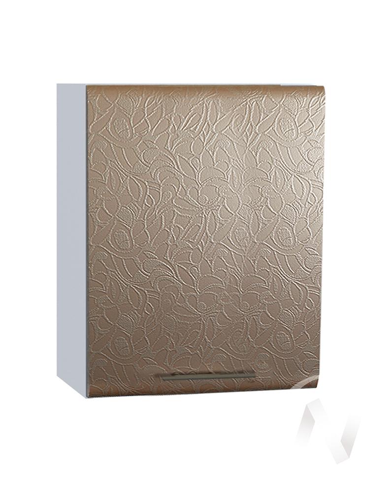 "Кухня ""Люкс"": Шкаф верхний 500, ШВ 500 (Гобелен шампань/корпус белый)"