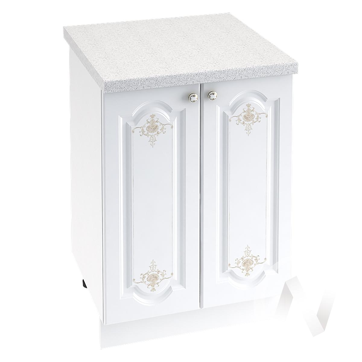 "Кухня ""Шарлиз"": Шкаф нижний 600, ШН 600 (корпус белый)"