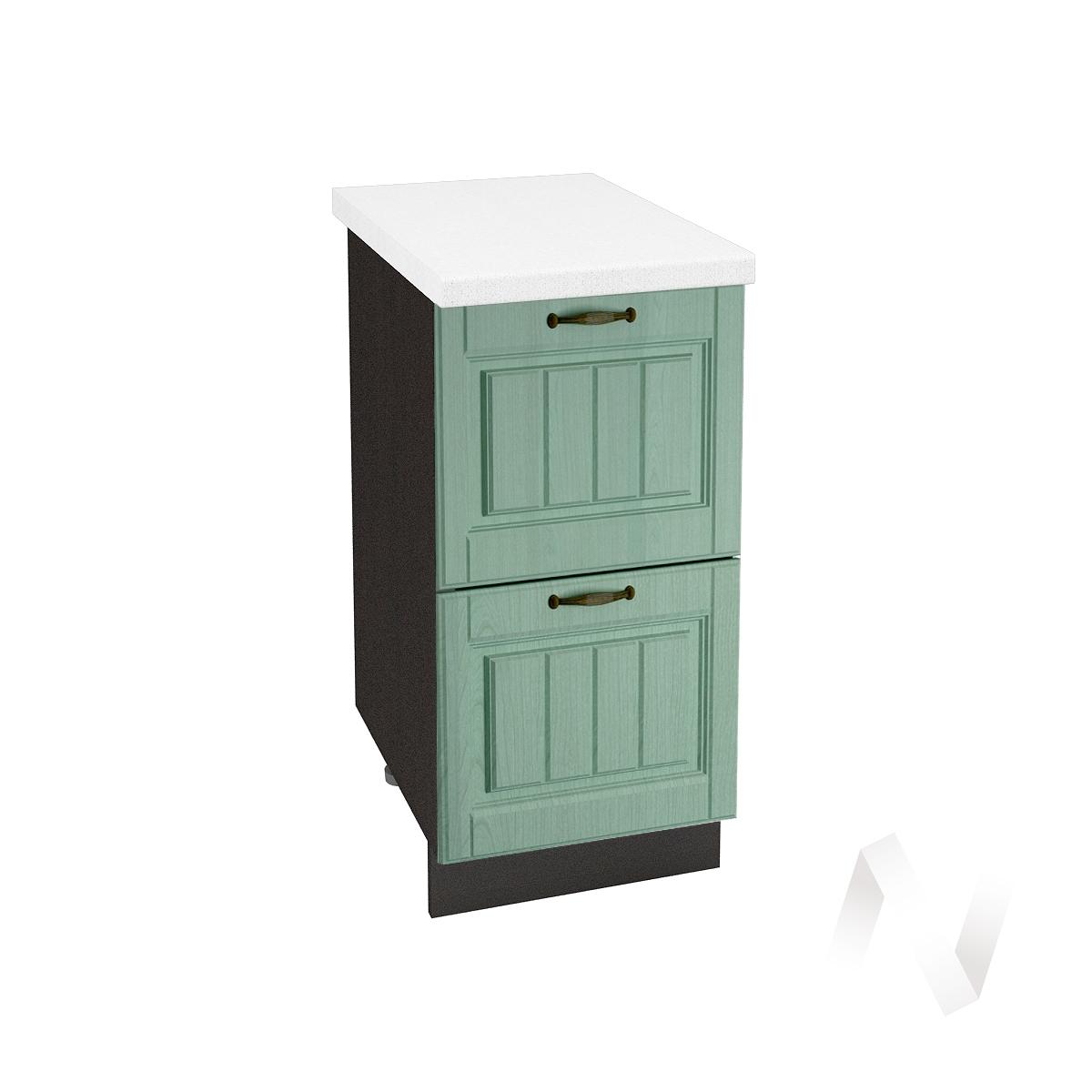 "Кухня ""Прованс"": Шкаф нижний с 2-мя ящиками 400, ШН2Я 400 (корпус венге)"