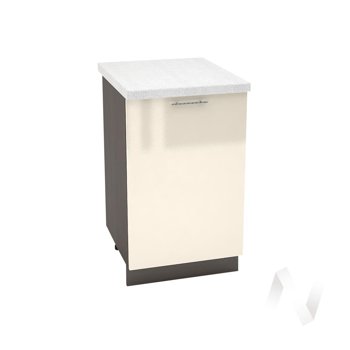 "Кухня ""Валерия-М"": Шкаф нижний 500, ШН 500 (Ваниль глянец/корпус венге)"