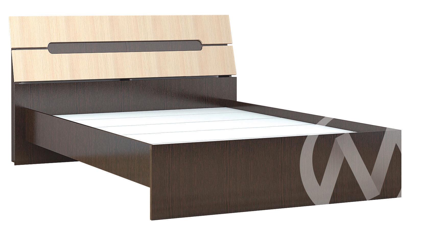 Кровать 1,6м Спальня Гавана (венге/дуб молочный)