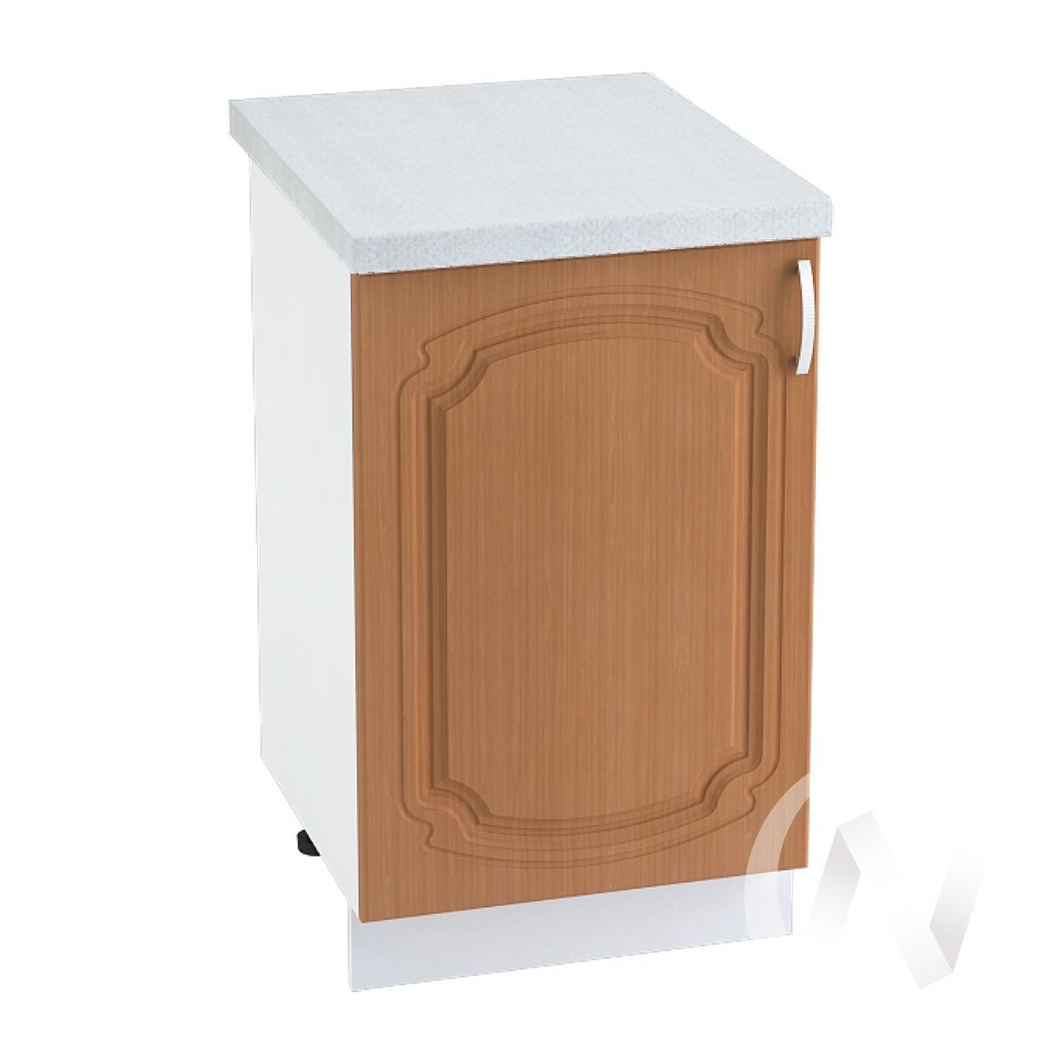 "Кухня ""Настя"": Шкаф нижний 500, ШН 500 (Орех миланский/корпус белый)"