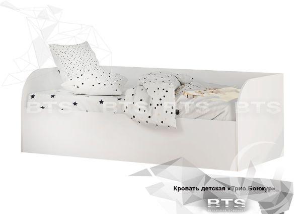 Кровать детская с подъемным механизмом КРП-01 Трио (белый/белый)