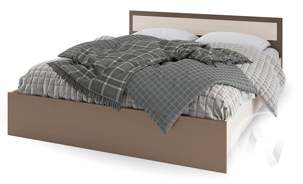 Кровать 1,4м КР 602 Спальня Гармония (шимо темный/шимо светлый)