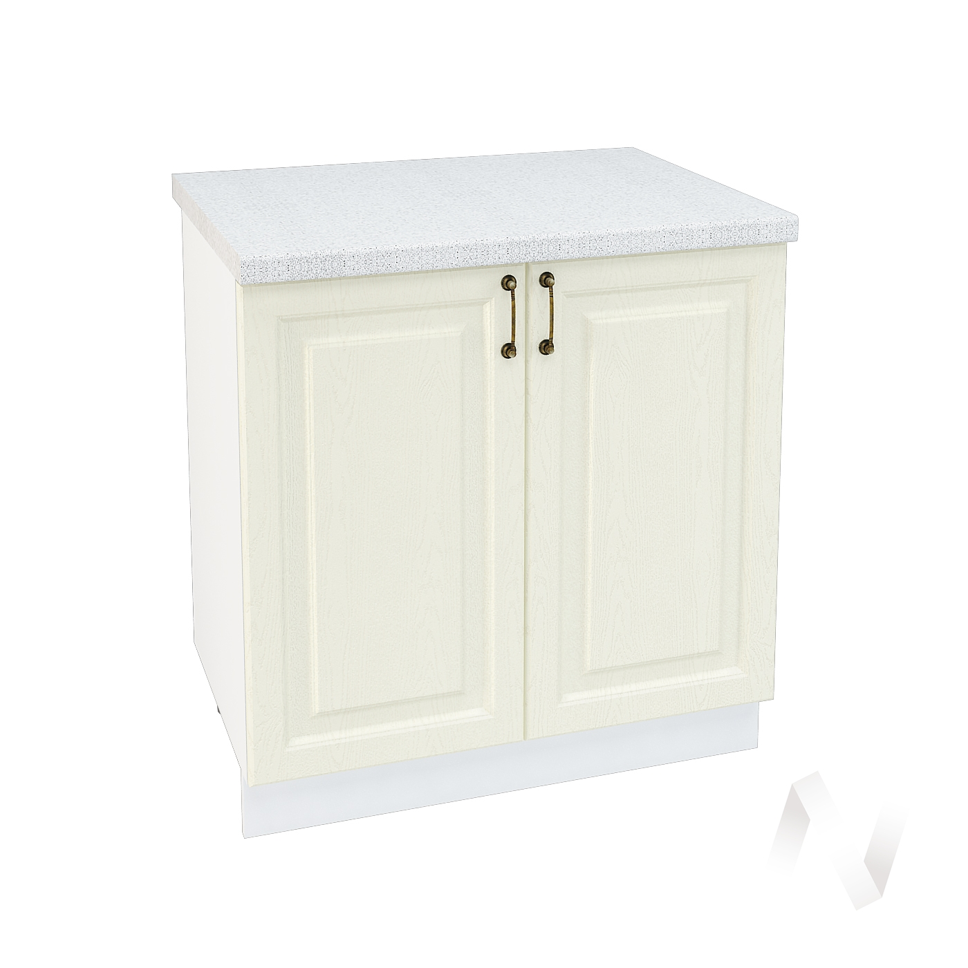 "Кухня ""Ницца"": Шкаф нижний 800, ШН 800 (Крем/корпус белый)"