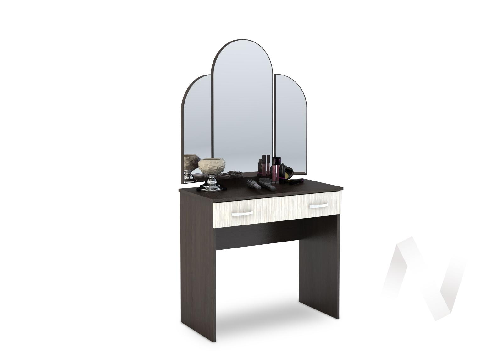 Бася Стол макияжный ЛДСП(венге/дуб бел) СТ 551