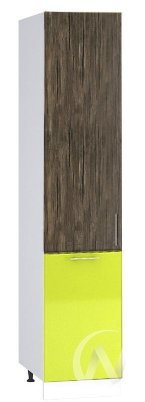 "(1)Кухня ""Норден"": Шкаф пенал 400, ШП 400 (старое дерево/лайм глянец/корпус белый)"