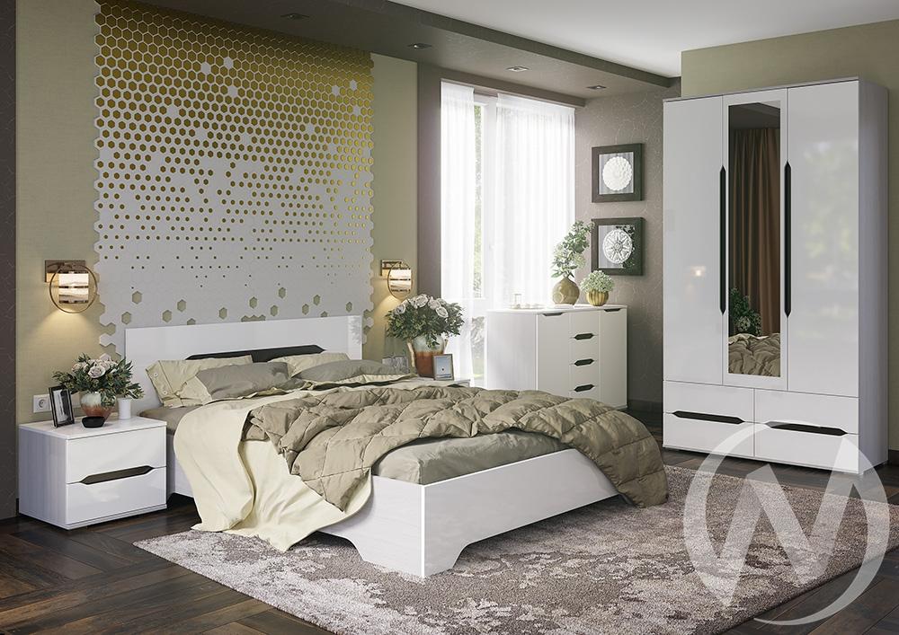 "Спальня ""Валирия"" (Анкор/Белый глянец)"