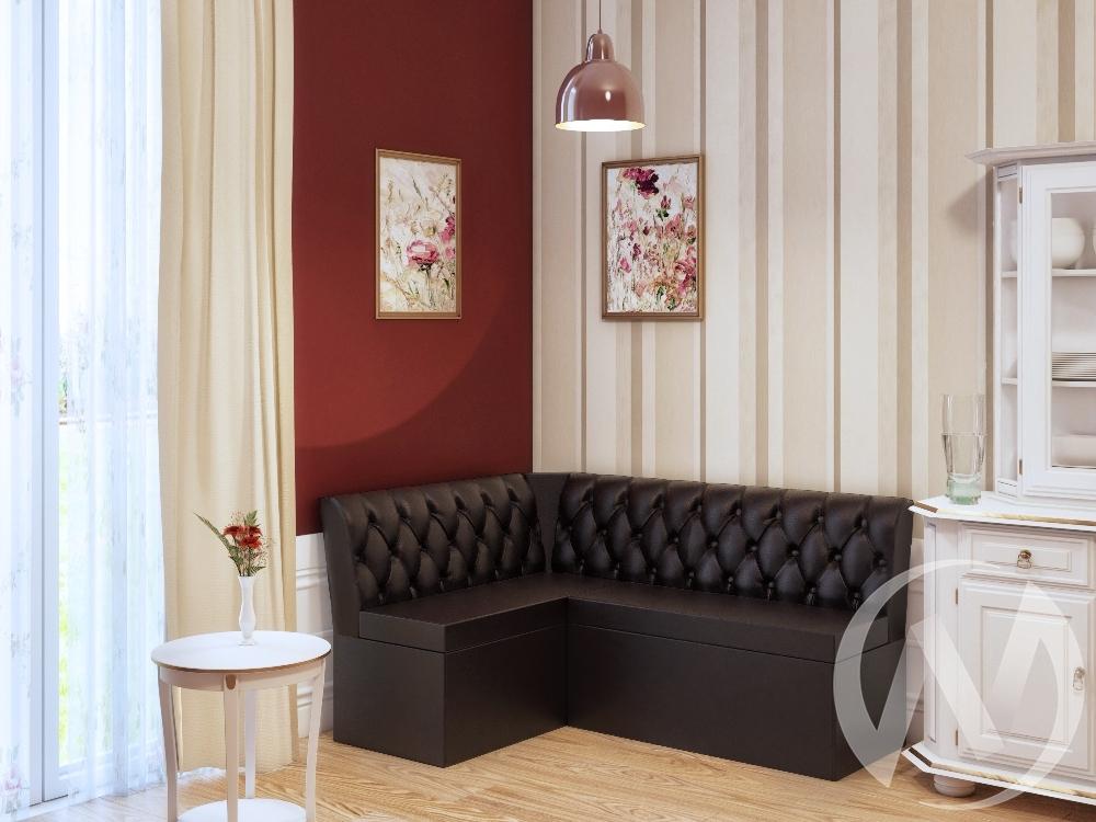 Скамья угловая Венеция (коричневый)  в Томске — интернет магазин МИРА-мебель