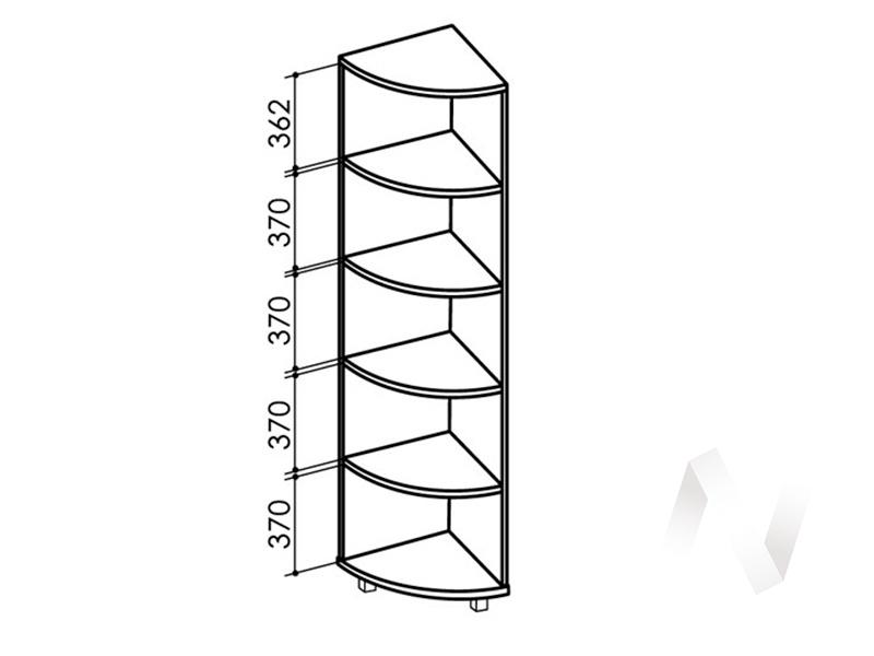 Пристрой радиусный №7 WEST (ясень шимо темный/ясень шимо светлый)