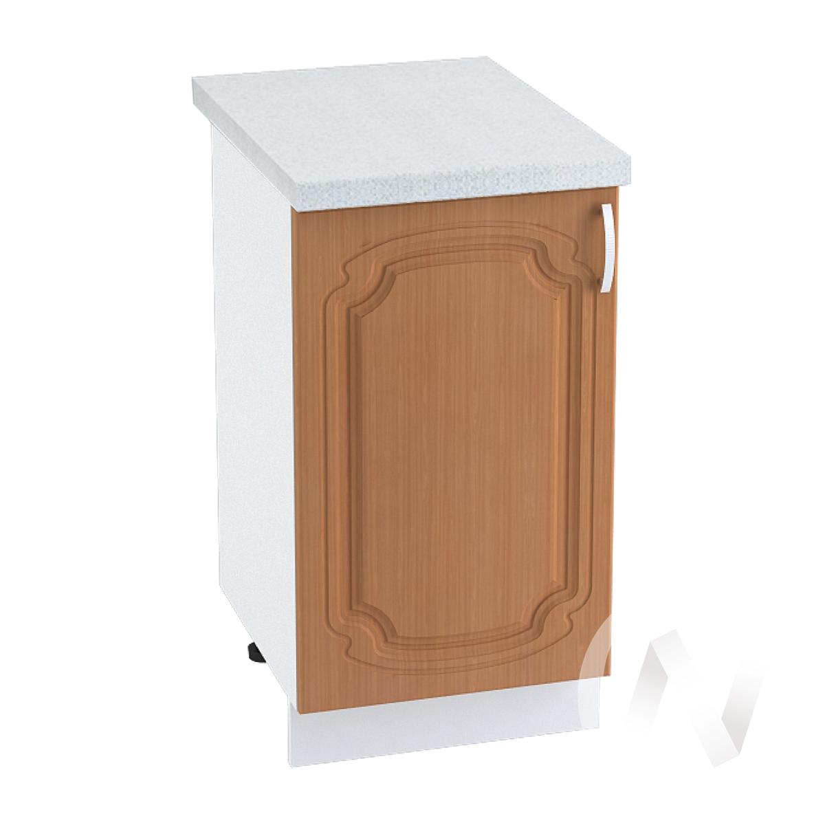 "Кухня ""Настя"": Шкаф нижний 450, ШН 450 (Орех миланский/корпус белый)"