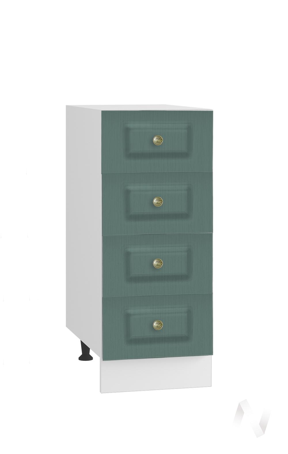 """Кухня """"Селена"""": Шкаф нижний с 4-мя ящиками 300, ШН4Я 300 (Дуб бирюзовый/корпус белый)"""