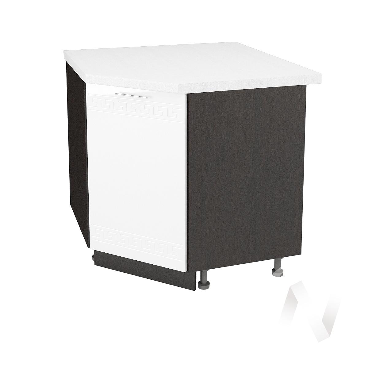 """Кухня """"Греция"""": Шкаф нижний угловой 890, ШНУ 890 (белый металлик/корпус венге)"""