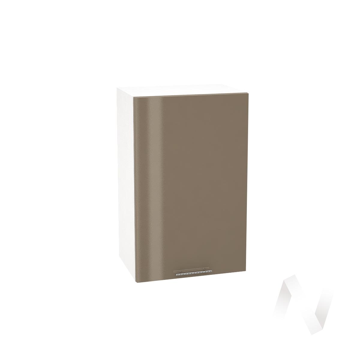 """Кухня """"Валерия-М"""": Шкаф верхний 450, ШВ 450 (Капучино глянец/корпус белый)"""