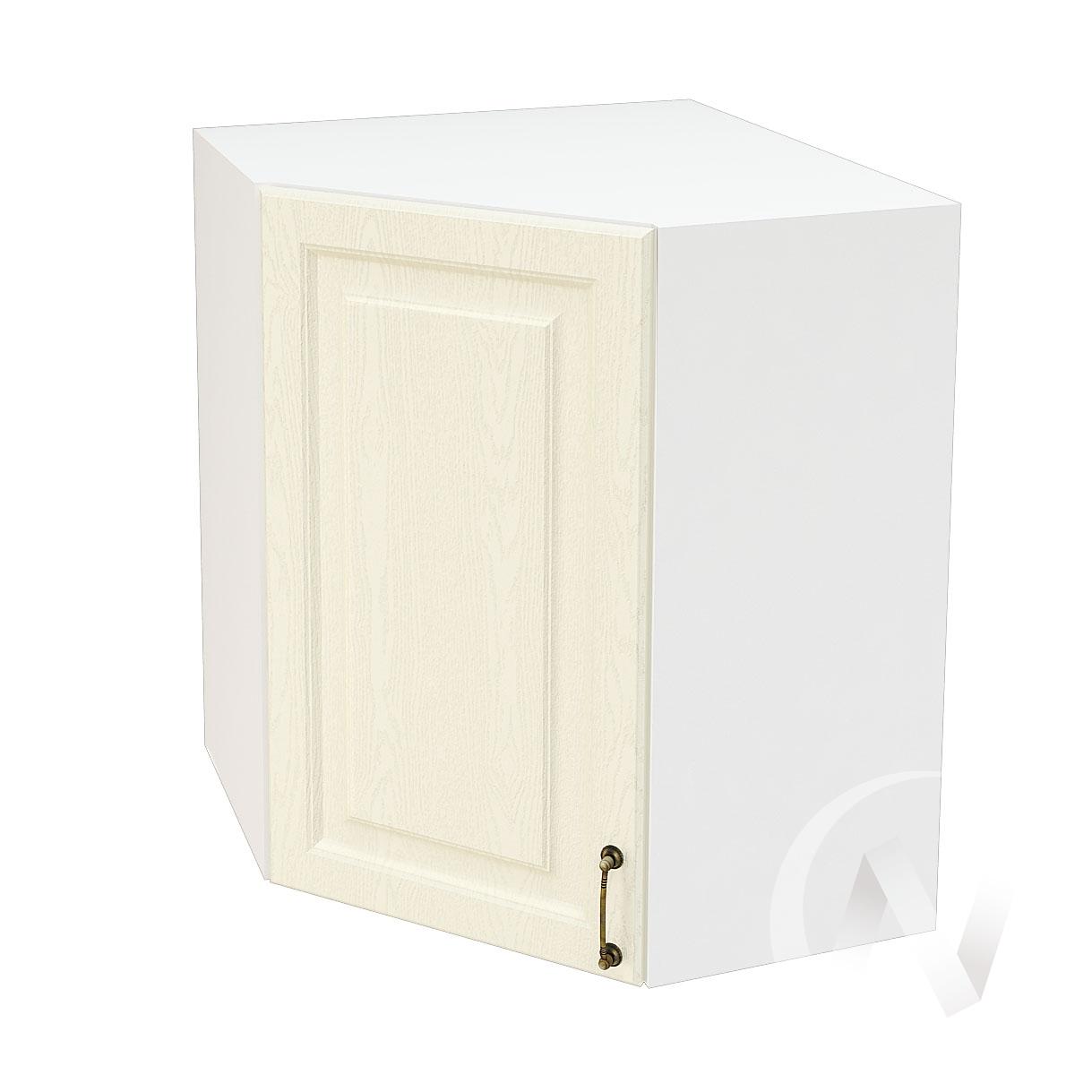 """Кухня """"Ницца"""": Шкаф верхний угловой 590, ШВУ 590 (Крем/корпус белый)"""