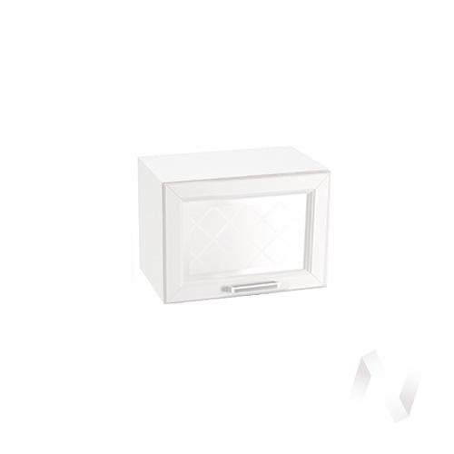 """Кухня """"Вена"""": Шкаф верхний горизонтальный со стеклом 500, ШВГС 500 (корпус белый) в Новосибирске в интернет-магазине мебели kuhnya54.ru"""