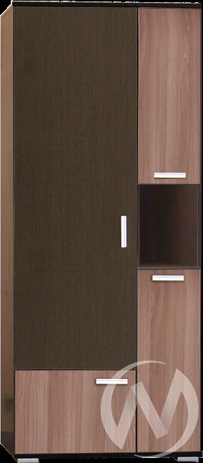 МС Статус М-4 Шкаф комбинированный (венге-ясень шимо темный)