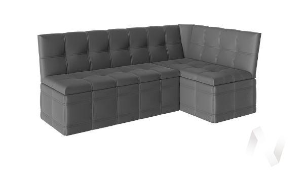 Скамья угловая со спальным местом Квадро тип 1 кожзам (серый)