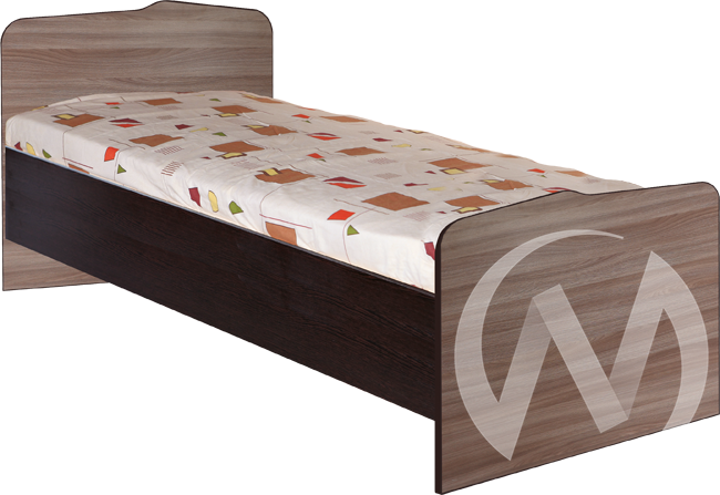 МС Статус М-22 Кровать 800*2000 (венге-ясень шимо темный)