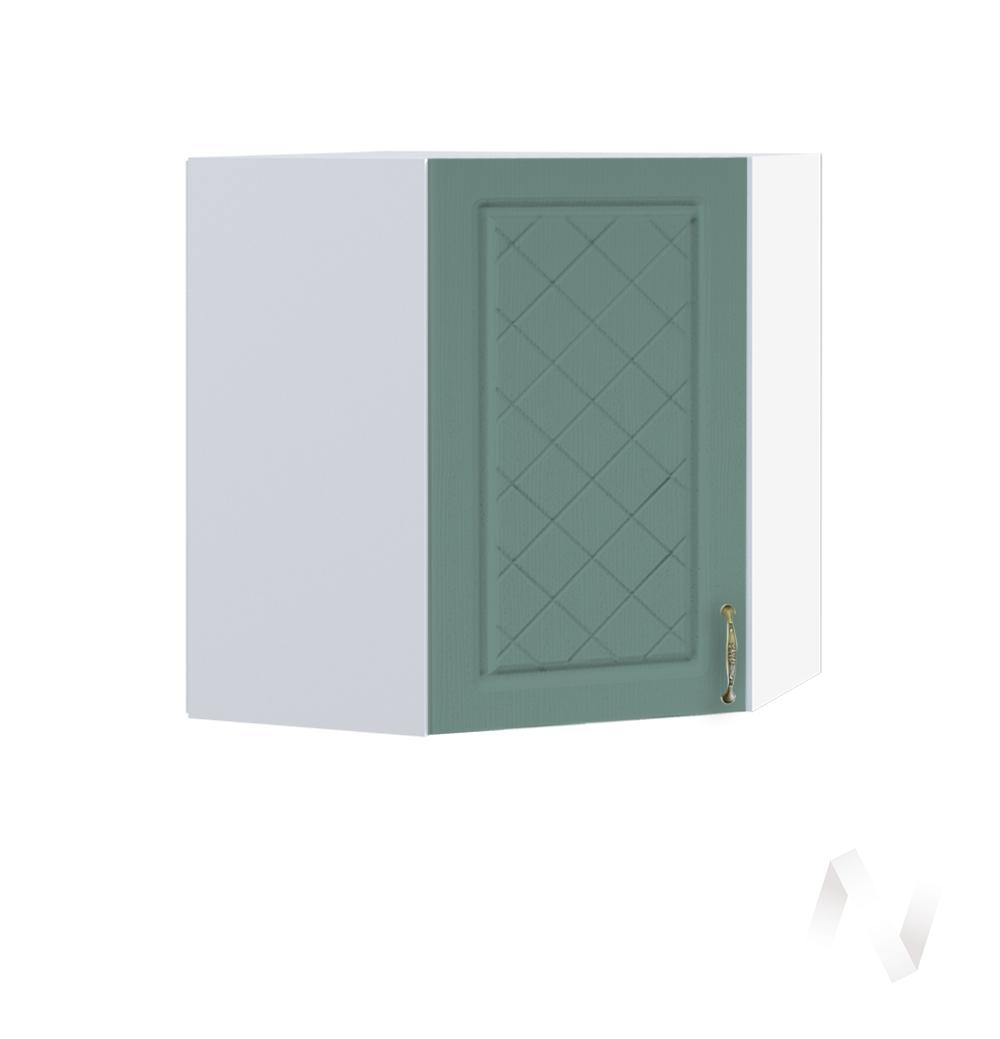 """Кухня """"Селена"""": Шкаф верхний угловой 590, ШВУ 590 (Дуб бирюзовый/корпус белый)"""