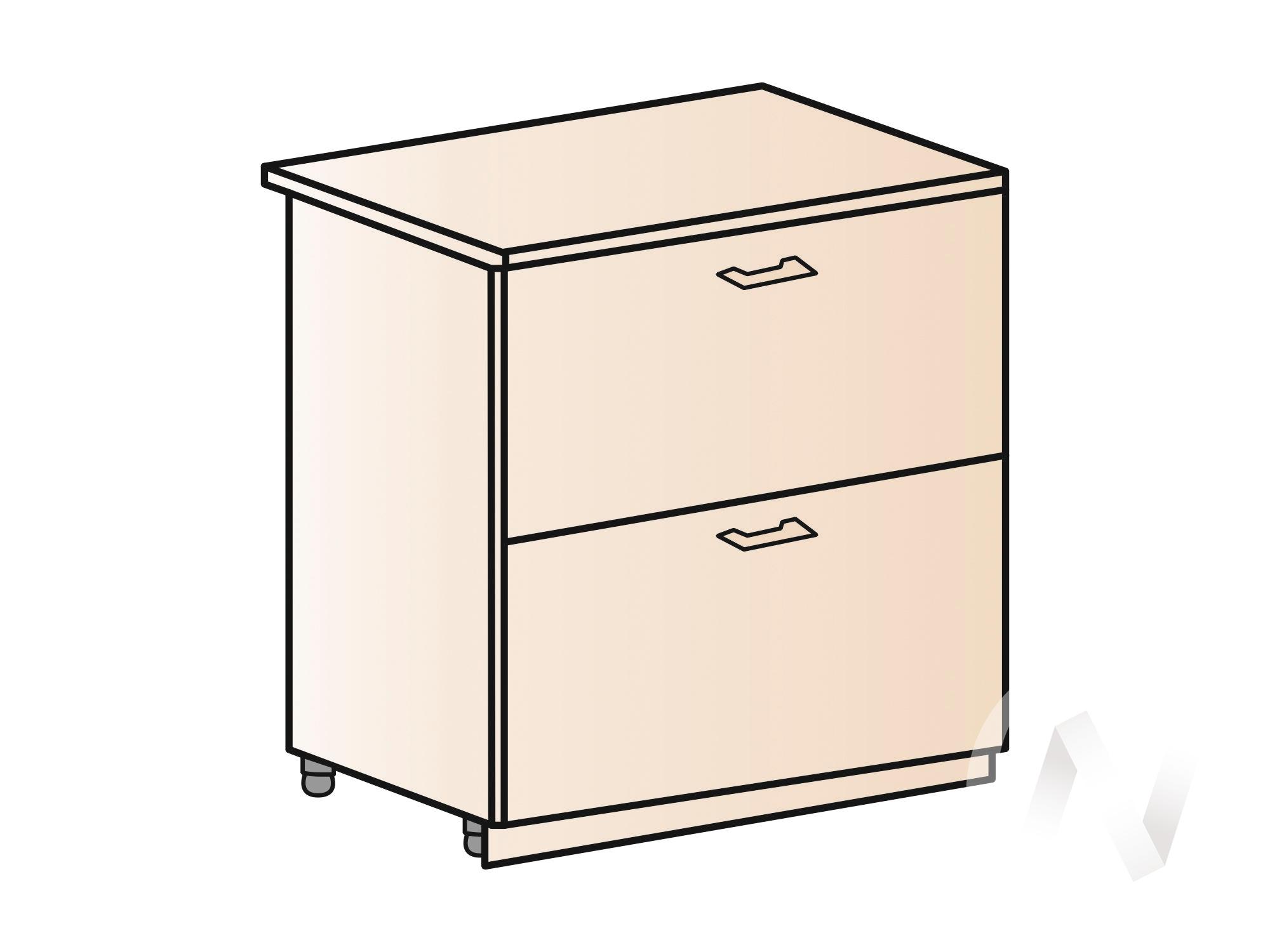 """Кухня """"Вена"""": Шкаф нижний с 2-мя ящиками 800, ШН2Я 800 (корпус белый) в Новосибирске в интернет-магазине мебели kuhnya54.ru"""
