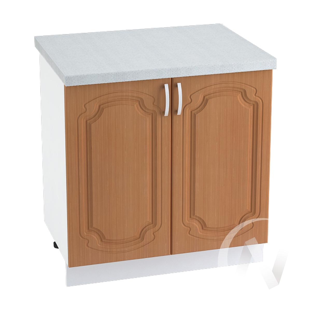 "Кухня ""Настя"": Шкаф нижний 800, ШН 800 (Орех миланский/корпус белый)"