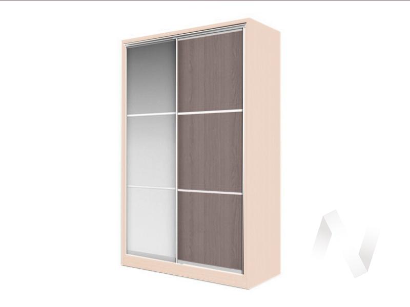 Шкаф-купе «Элвис» 2-х дверный тройной с зеркалом (дуб сонома/шимо темный)  в Томске — интернет магазин МИРА-мебель