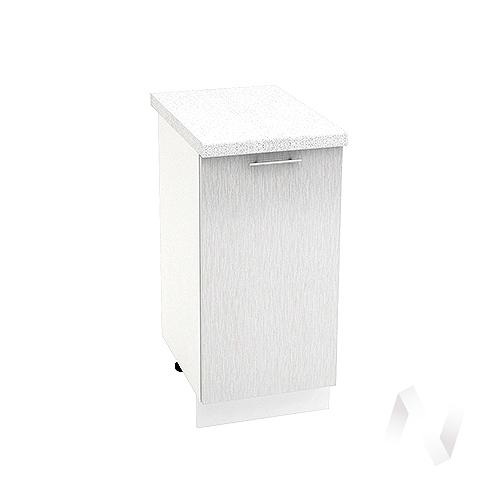 """Кухня """"Валерия-М"""": Шкаф нижний 400, ШН 400 (дождь серый/корпус белый)"""