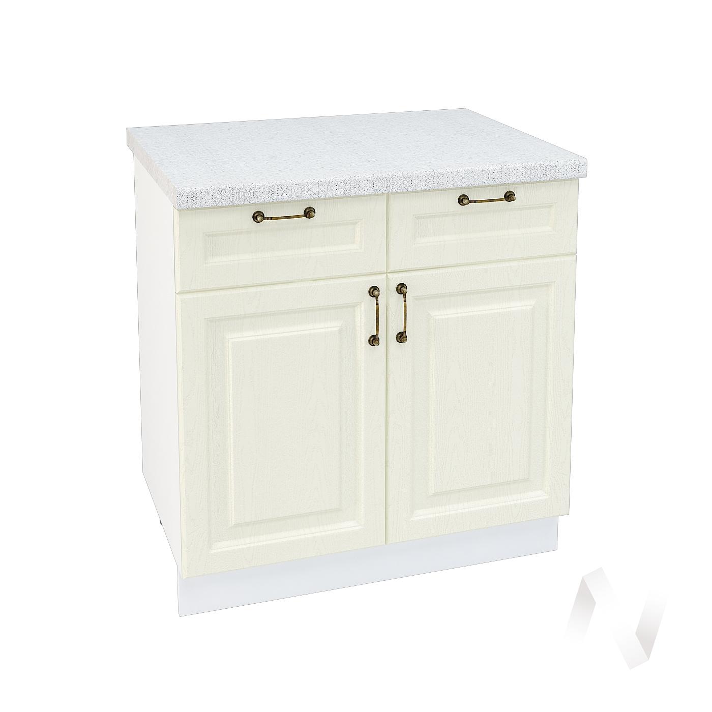 """Кухня """"Ницца"""": Шкаф нижний с ящиками 800, ШН1Я 800 (Крем/корпус белый)"""