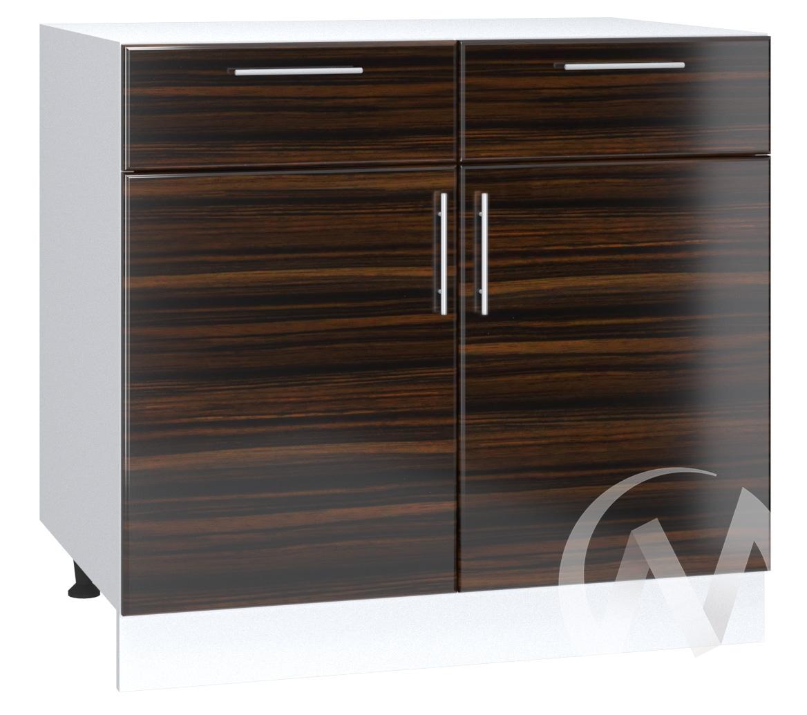 "Кухня ""Норден"": Шкаф нижний с ящиками 800, ШН1Я 800 (эбен/корпус белый)"