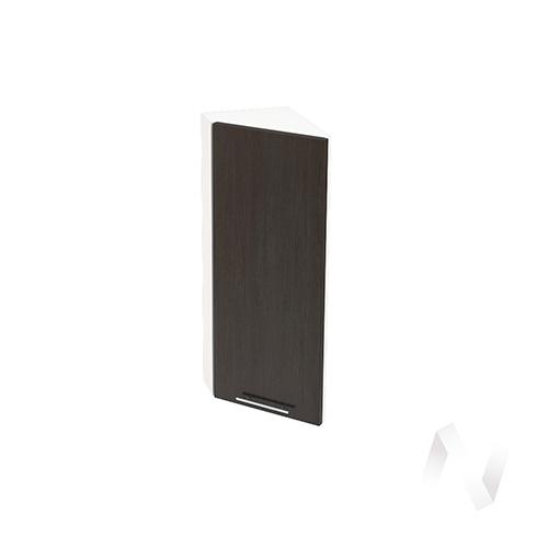 """Кухня """"Валерия-М"""": Шкаф верхний торцевой 224, ШВТ 224 (венге/корпус белый)"""