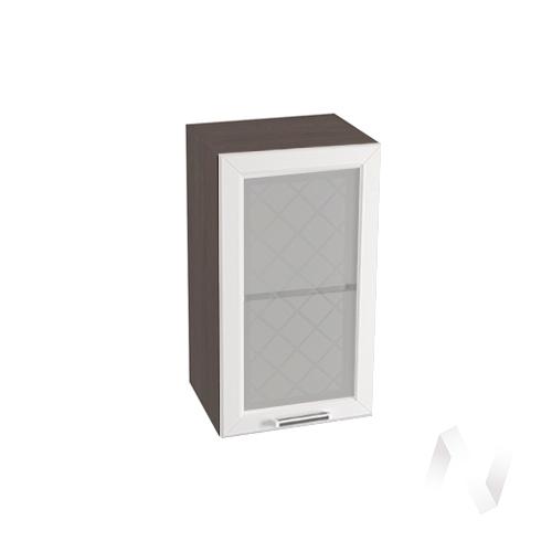 """Кухня """"Вена"""": Шкаф верхний со стеклом 400, ШВС 400 (корпус венге)"""