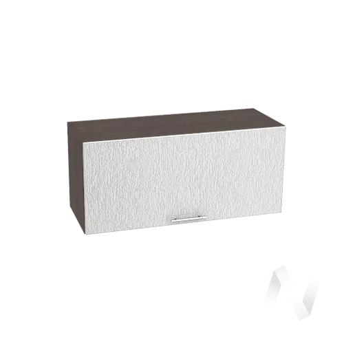 """Кухня """"Валерия-М"""": Шкаф верхний горизонтальный 800, ШВГ 800 (дождь серый/корпус венге)"""
