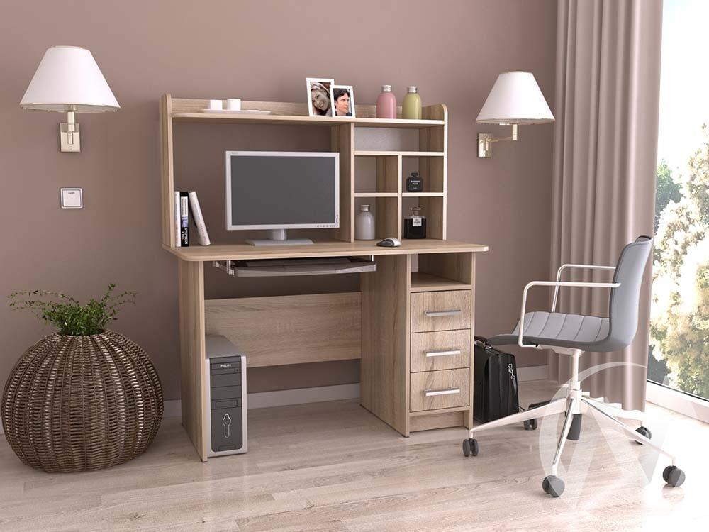 Компьютерный стол КС 1200 (дуб сонома)