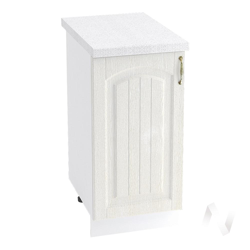 """Кухня """"Верона"""": Шкаф нижний 400 левый, ШН 400 (ясень золотистый/корпус белый)"""